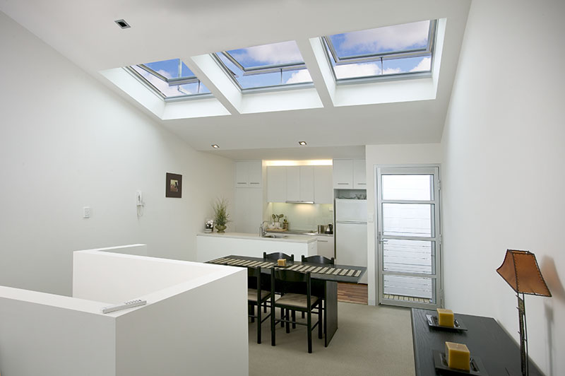 Velux Opening Skylights In City Unit