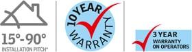 velux manual skylight warranty logos