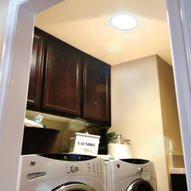 Laundry Room lit by a Solatube Daylighting System