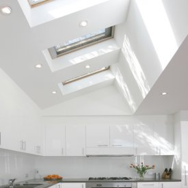 Large Modern Kitchen Made Breathtaking with VELUX
